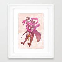 gundam Framed Art Prints featuring soft gundam by Cori Walters