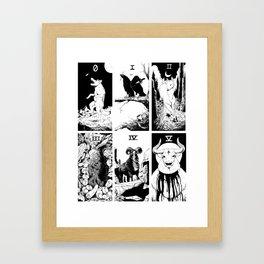 Tarot 0-5 Framed Art Print