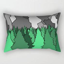 Forest Under the Gray Mounain Rectangular Pillow