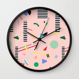 Memphis Geometry Lesson Wall Clock