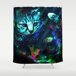 Bad Kitty Shower Curtain