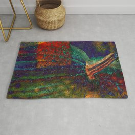 ABSTRACT DEEP COLORFUL SPARKLY PUMPKINS Rug