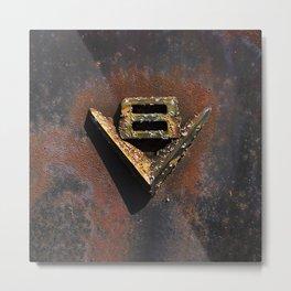V8 Rust Metal Print