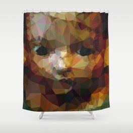 Geometric Doll Shower Curtain