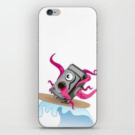Monster Camera Surfing iPhone Skin