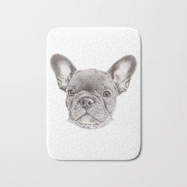 Drawing of french bulldog Bath Mat