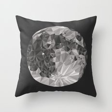 Abstract Full Moon Throw Pillow