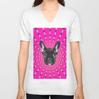 asia V-neck T-shirts featuring ARTPOP ASIA by peroxideshots