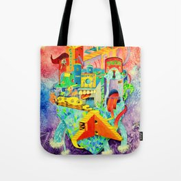 Invisible Cities-TAMARA【隐形的城市·插画】 Tote Bag
