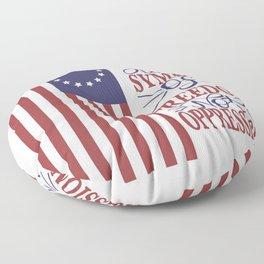 Betsy Ross 1776 Flag:  Still a Symbol Of Freedom Not Oppression Floor Pillow