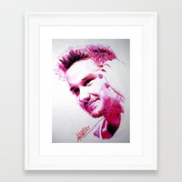 liam payne Framed Art Prints featuring Liam Payne by Drawpassionn