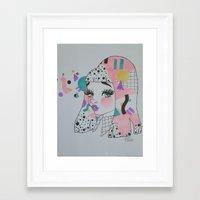 mod Framed Art Prints featuring Mod by squidvishuss