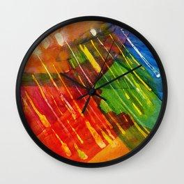 The Pleiades Last Year a watercolor by Dan Vera Wall Clock
