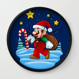 Xmas Mario Wall Clock