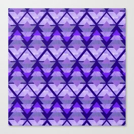Geometric Forest on Purple Canvas Print
