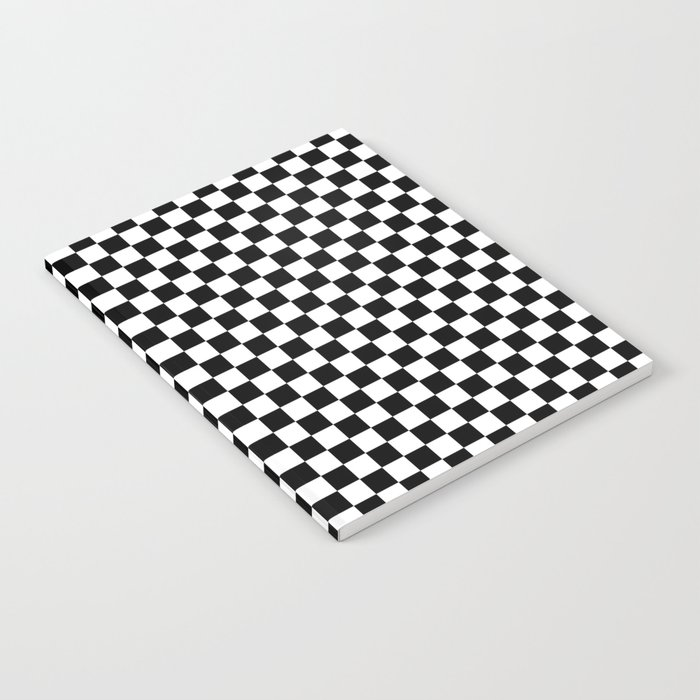 Classic Black and White Race Check Checkered Geometric Win Notebook