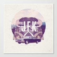 jfk Canvas Prints featuring JFK by mattdunne