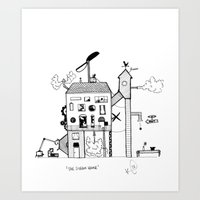 The Steam House Art Print
