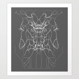 ...and they bowed... Art Print