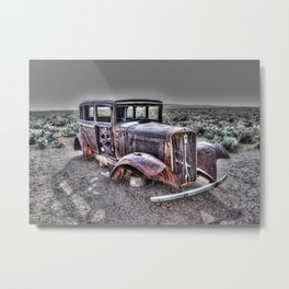 Rusting in the desert Metal Print