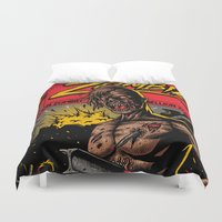 zombie Duvet Covers featuring Zombie by Demones