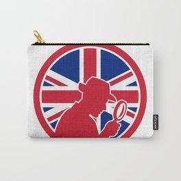 British Private Investigator Union Jack Flag Icon Carry-All Pouch