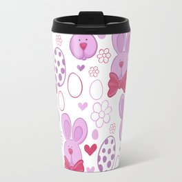 Cute easter pattern with eggs and bunnies Travel Mug