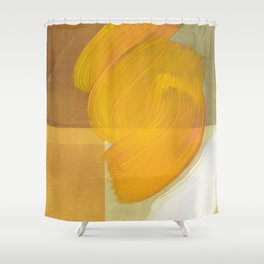 orange one Shower Curtain