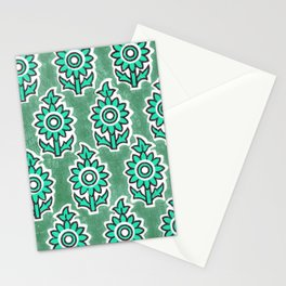 Indian Lucite Green Stationery Cards