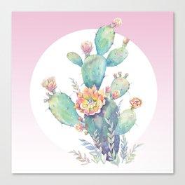 cactus watercolor Canvas Print