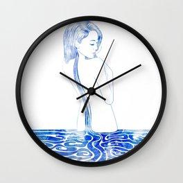 Water Nymph LXXV Wall Clock