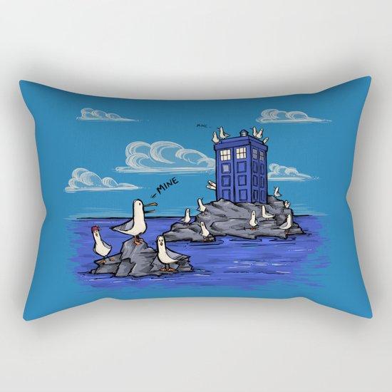 The Seagulls have the Phonebox Rectangular Pillow