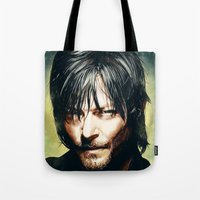daryl Tote Bags featuring Daryl Dixon by p1xer