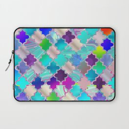 Colorful Decorative Moroccan Pattern Laptop Sleeve