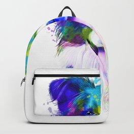 Border Collie watercolor, Watercolor Border Collie, Watercolor dog, Border Collie portrait Backpack