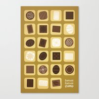forrest gump Canvas Prints featuring Forrest Gump by Logophilia Design