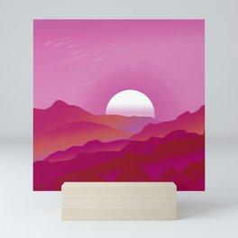Lesbian Pride Sunrise Landscape Mini Art Print