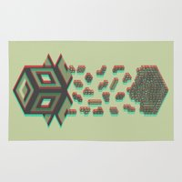 tetris Area & Throw Rugs featuring Tetris by Delaney Digital