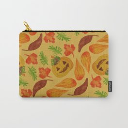 retro lovely jack-o-lantern pattern Carry-All Pouch