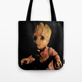 Baby/Groot Alternative Character Poster Tote Bag