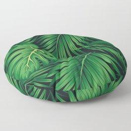 Tropical leaf illustration Floor Pillow