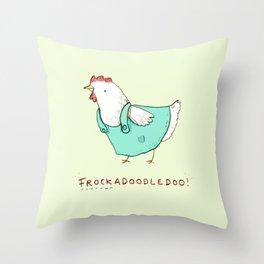Frockadoodledoo! Throw Pillow