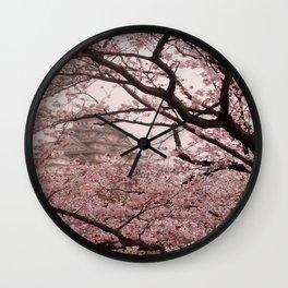 Pink Himeji Dream Wall Clock