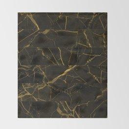 Slices Of Golden Marble Throw Blanket