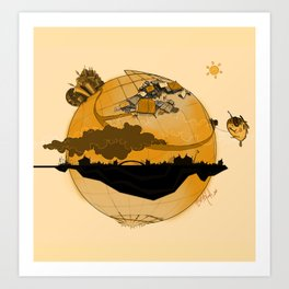 Eskisehir and Invisible World Art Print