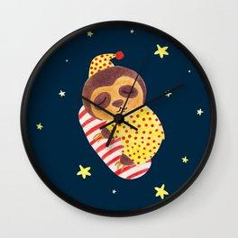 Sleeping Like a Sloth Wall Clock