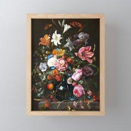 "Jan Davidsz. de Heem ""Still life with Flowers"" Framed Mini Art Print"