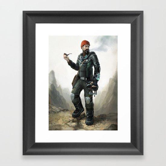 Hollow Earth Explorer Framed Art Print