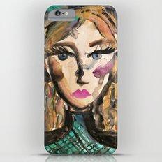Teal Dress Girl iPhone 6 Plus Slim Case