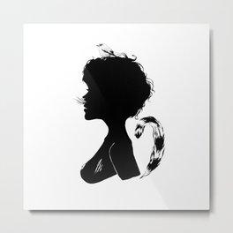Birdie Silhouette Metal Print